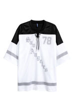 T-shirt with mesh - White/Black - Men | H&M 2