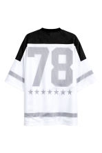 T-shirt with mesh - White/Black - Men | H&M 3