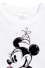 Printed top - White/Minnie Mouse - Kids | H&M 2