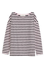 Long-sleeved top - Light pink/Striped - Ladies | H&M 2
