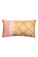 Patterned cushion cover - Dusky pink/Mustard yellow - Home All | H&M CN 1