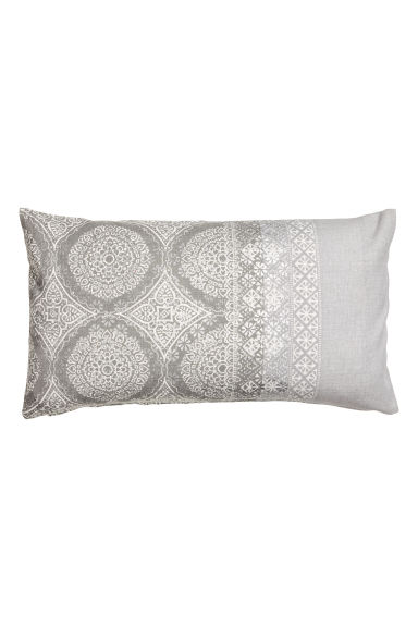 Patterned cushion cover - Grey/Light grey - Home All | H&M CN 1