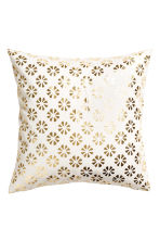 Patterned cushion cover - White/Gold - Home All | H&M CN 2