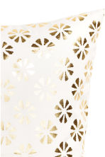 Patterned cushion cover - White/Gold - Home All | H&M CN 3