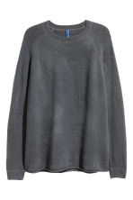 Fine-knit jumper - Dark grey - Men | H&M CN 2
