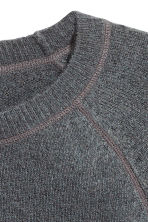 Fine-knit jumper - Dark grey - Men | H&M CN 3