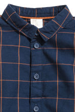 Cotton shirt - Dark blue/Checked - Kids | H&M 2