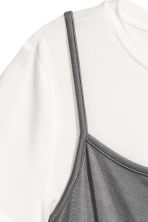 Slip dress with a top - Dark grey - Ladies | H&M 3