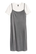 Slip dress with a top - Dark grey - Ladies | H&M 2