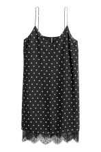 Slip dress - Black/Spotted - Ladies | H&M CN 2