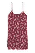 Slip dress - Burgundy/Floral - Ladies | H&M CN 2