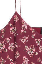 Slip dress - Burgundy/Floral - Ladies | H&M CN 3