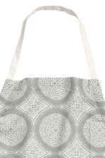 Patterned apron - Grey/White - Home All | H&M CN 2