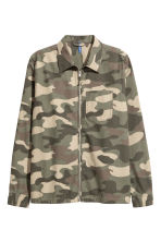 Patterned shirt jacket - Khaki/Patterned - Men | H&M 2