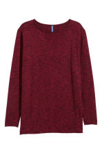 Fine-knit jumper - Burgundy - Men | H&M 2