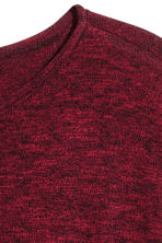 Fine-knit jumper - Burgundy - Men | H&M 3