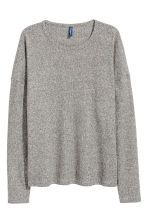 Cotton-blend top - Grey marl - Men | H&M 2