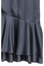 Satin tunic - Dark grey-blue -  | H&M 3