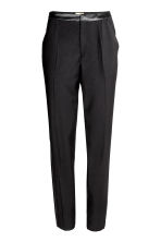 Suit trousers with side stripe - Black - Ladies | H&M CA 2