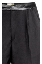 Suit trousers with side stripe - Black - Ladies | H&M 4