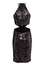 Sequined dress - Black - Ladies | H&M CN 3