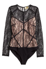 Body in pizzo - Nero/cipria - DONNA | H&M IT 2