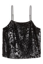 Sequined strappy top - Black - Ladies | H&M 2