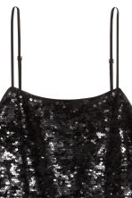 Sequined strappy top - Black - Ladies | H&M 4
