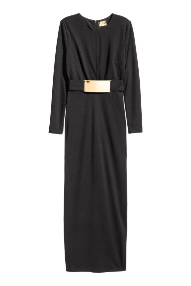 Belted maxi dress - Black - Ladies | H&M 1