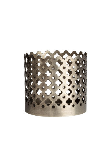 Small metal tealight holder - Silver - Home All | H&M CN 1
