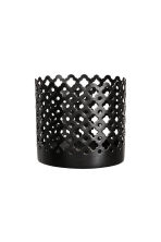 Small metal tealight holder - Black - Home All | H&M CN 1