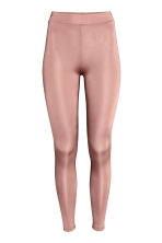 Leggings with a sheen - Powder pink -  | H&M CA 2