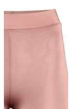 Leggings with a sheen - Powder pink -  | H&M CA 3