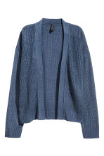 Rib-knit cardigan - Pigeon blue - Ladies | H&M CN 2