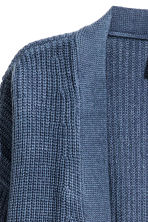 Rib-knit cardigan - Pigeon blue - Ladies | H&M 3