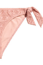 Lace tanga bikini bottoms - Old rose - Ladies | H&M 3