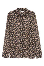 Chiffon blouse - Black/Floral - Ladies | H&M 2