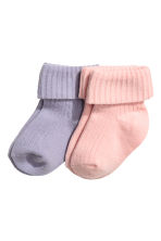 2-pack socks - Purple - Kids | H&M 1