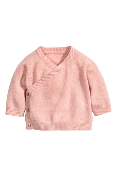 Cardigan incrociato cashmere - Rosa cipria - BAMBINO | H&M IT 1