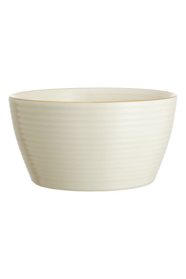 Textured bowl - White - Home All | H&M CN 1