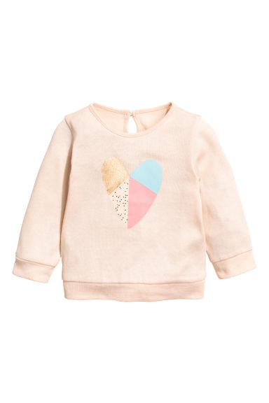 Fine-knit jumper - Powder pink - Kids | H&M 1