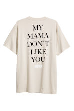 Printed T-shirt - Light beige/Justin Bieber - Men | H&M 2