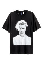 圖案T恤 - Black/Justin Bieber - Men | H&M 1