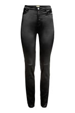 Satin trousers - Black - Ladies | H&M CN 2