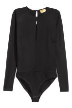 Long-sleeved body - Black - Ladies | H&M 2