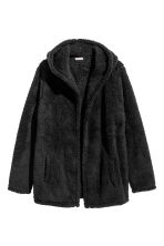 Fleece cardigan - Black - Men | H&M CN 2