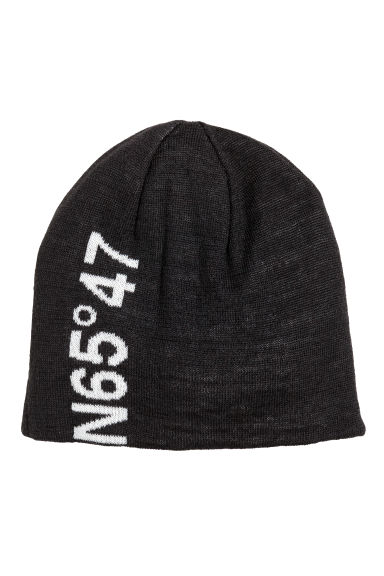 Wool-blend hat - Black - Ladies | H&M 1