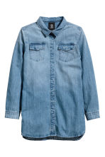 Long denim shirt - Denim blue -  | H&M CN 2