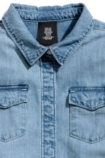 Long denim shirt - Denim blue -  | H&M CN 3