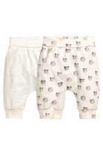 2-pack jersey trousers - White/Bear - Kids | H&M 1